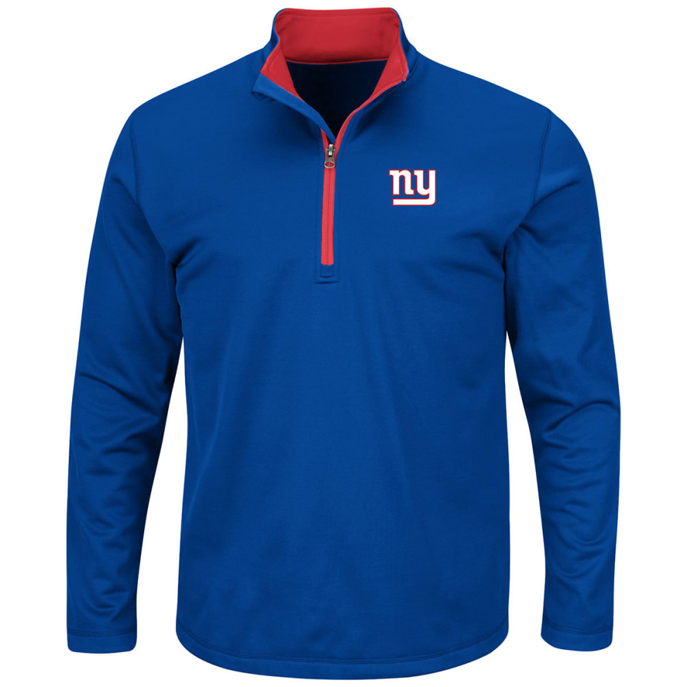 NEW YORK GIANTS Men's Across the Scoreboard ¼ Zip Pullover - NAVY
