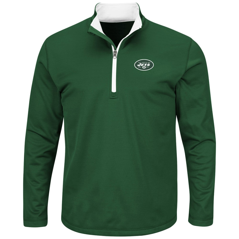 NEW YORK JETS Men's Across the Scoreboard ¼ Zip Pullover - GREEN