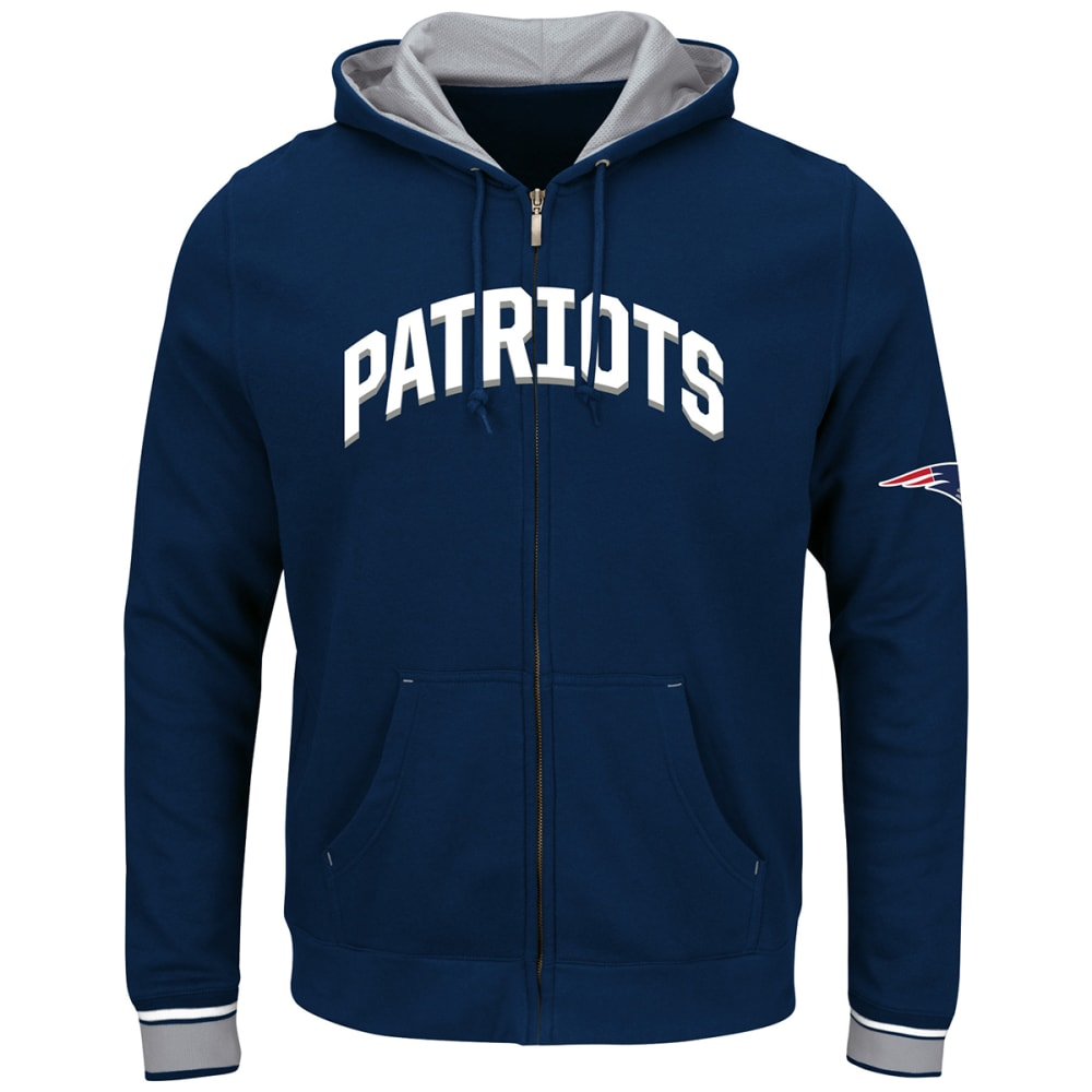 NEW ENGLAND PATRIOTS Men's Anchor Point Full-Zip Hoodie - NAVY