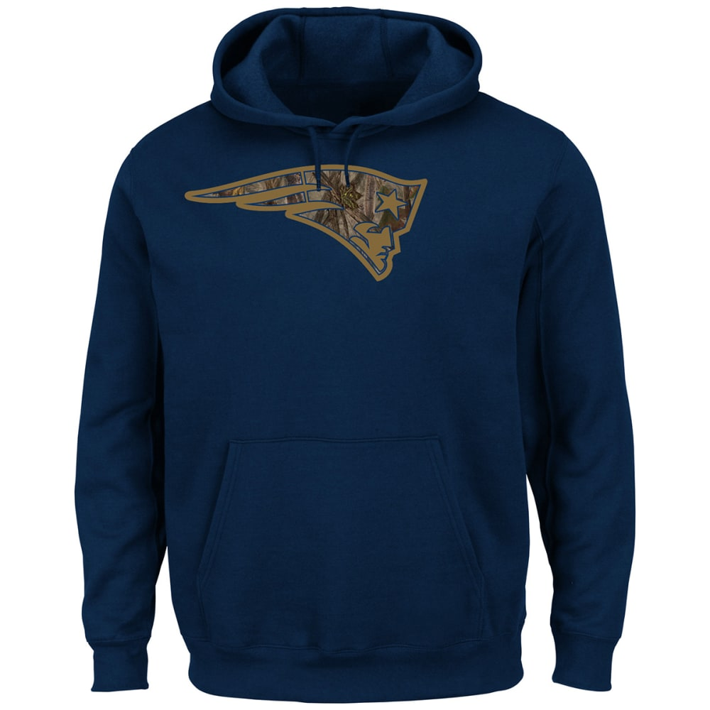 NEW ENGLAND PATRIOTS Men's Camo Tek Patch Pullover Hoodie - NAVY