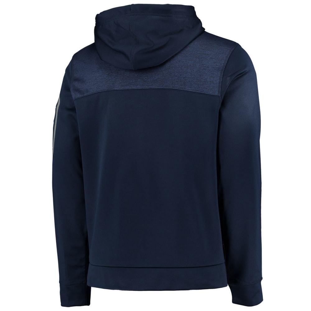 NEW ENGLAND PATRIOTS Men's Game Elite Fleece Full-Zip Hoodie - NAVY