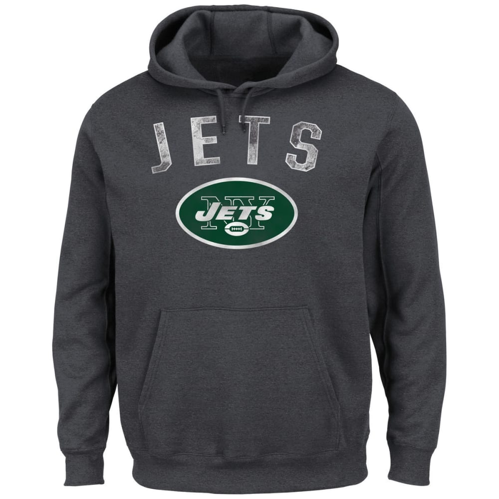 NEW YORK JETS Men's Kick Return 2 Pullover Hoodie - HEATHER CHARCOAL