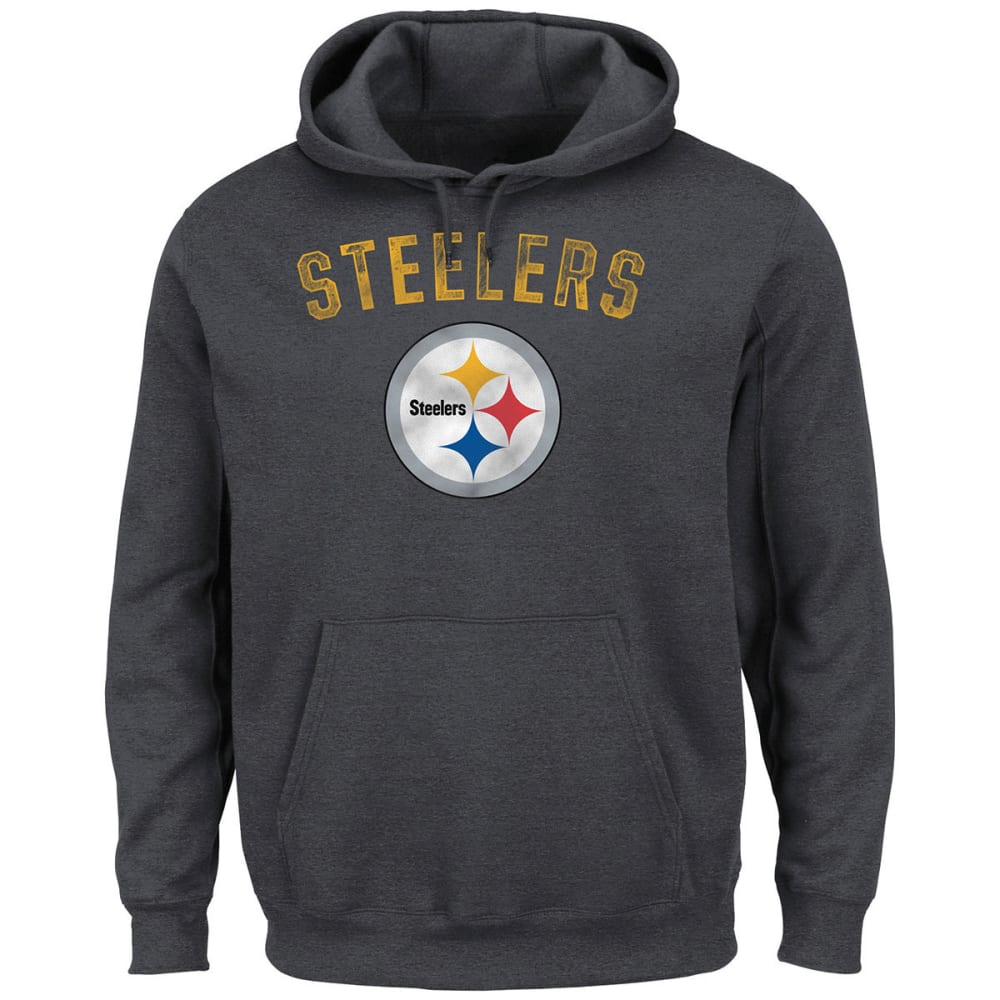PITTSBURGH STEELERS Men's Kick Return 2 Pullover Hoodie - CHARCOAL