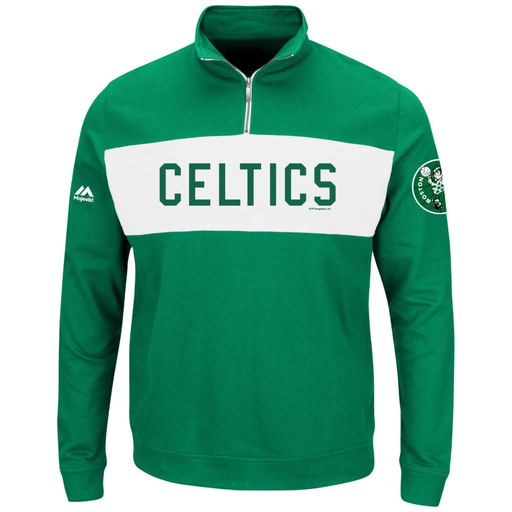 BOSTON CELTICS Men's In The Limelight ¼-Zip Pullover - KELLY