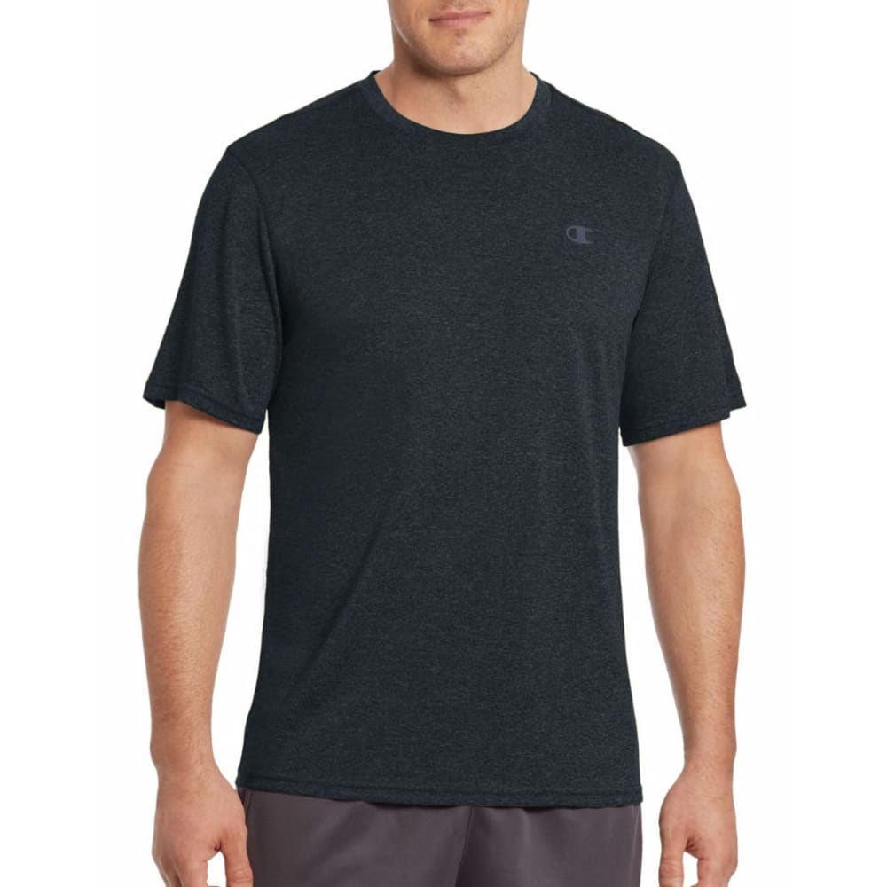 Champion Men's Vapor Heather Short Sleeve T-Shirt - Black, M
