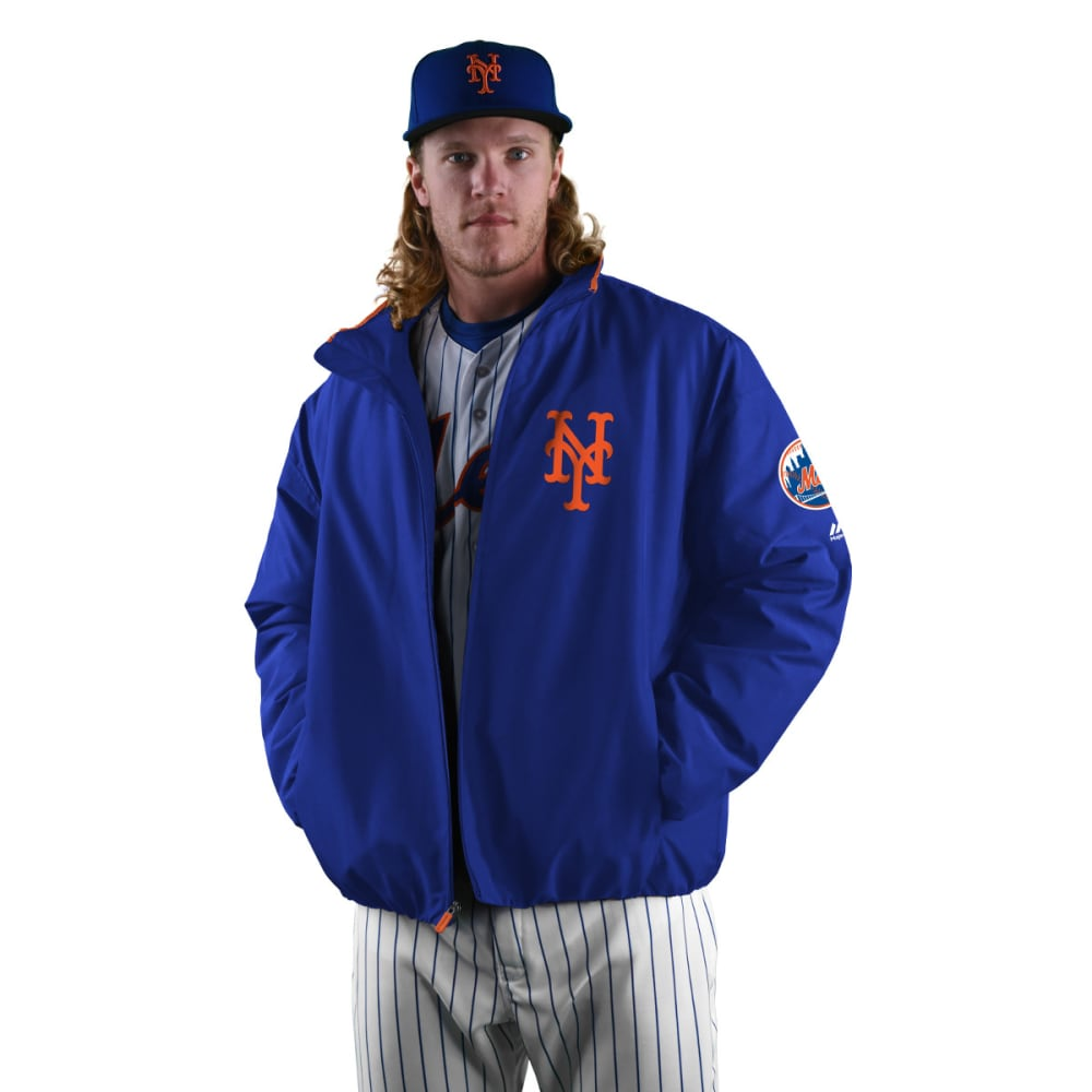 NEW YORK METS Men's On Field Thermal Jacket - ROYAL BLUE