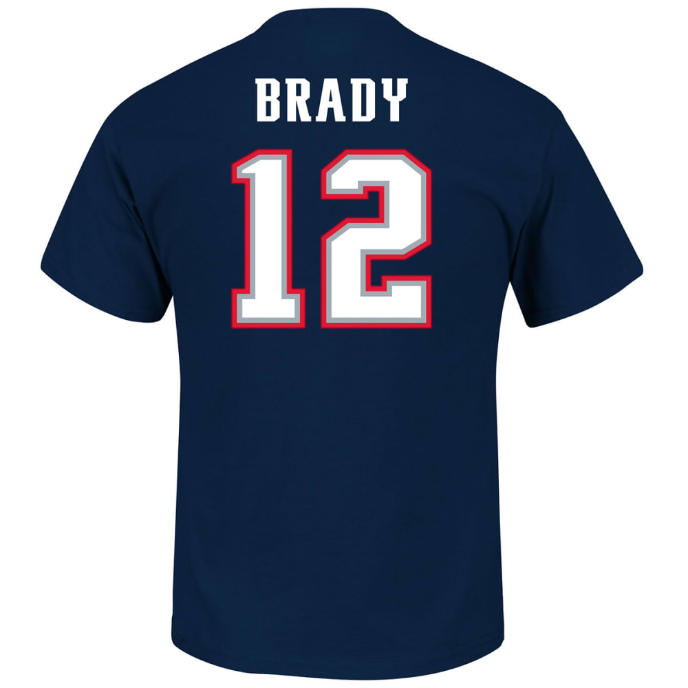 NEW ENGLAND PATRIOTS Men's Eligible Receiver #12 Brady Name and Number Tee S