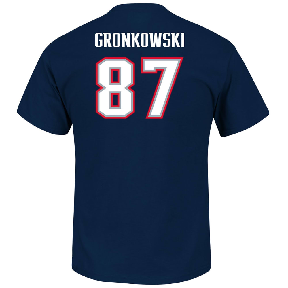 NEW ENGLAND PATRIOTS Men's Eligible Receiver #87 Gronkowski Name and Number Tee M
