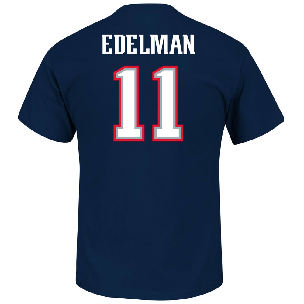 NEW ENGLAND PATRIOTS Men's Eligible Receiver #11 Edelman Name and Number Tee - NAVY