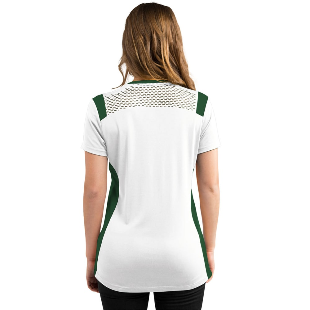 NEW YORK JETS Women's Draft Me Jersey Tee - WHITE/GREEN