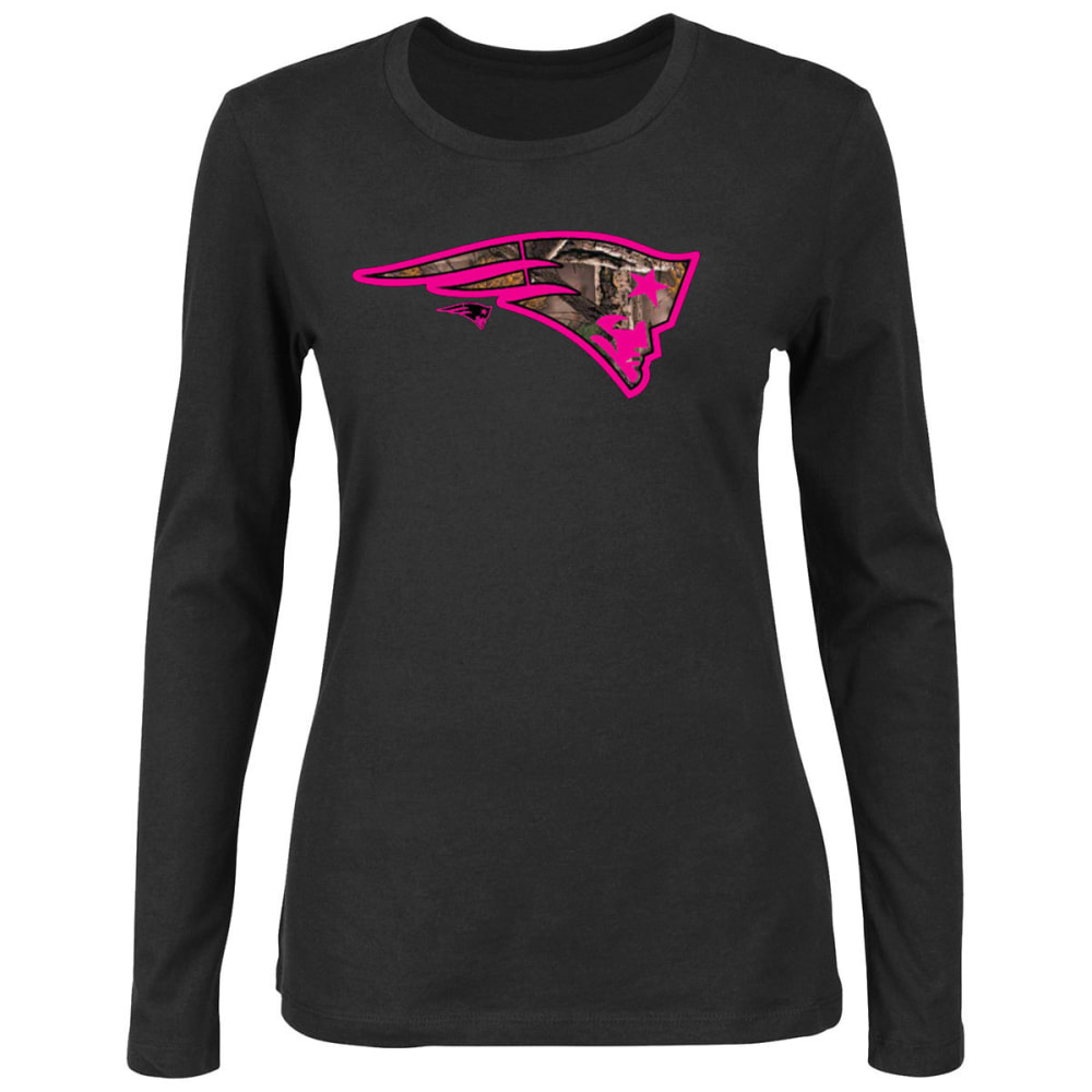 NEW ENGLAND PATRIOTS Women's Strive For Progress Long Sleeve Tee - BLACK