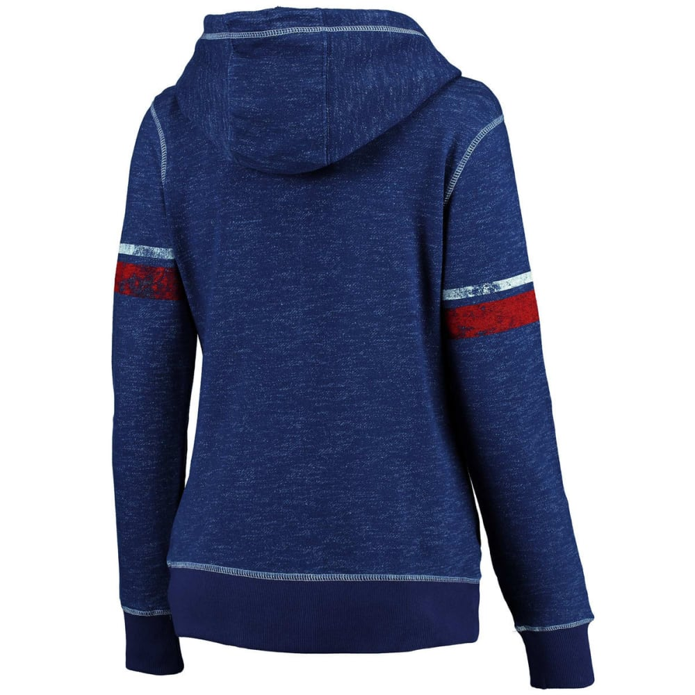 NEW YORK GIANTS Women's Athletic Tradition Front-Zip Fleece Hoodie - ROYAL BLUE
