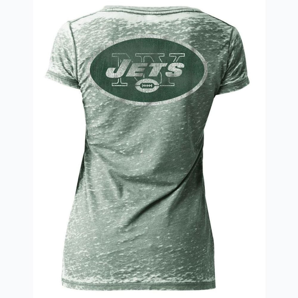 NEW YORK JETS Women's Burnout Short-Sleeve Tee - GREEN