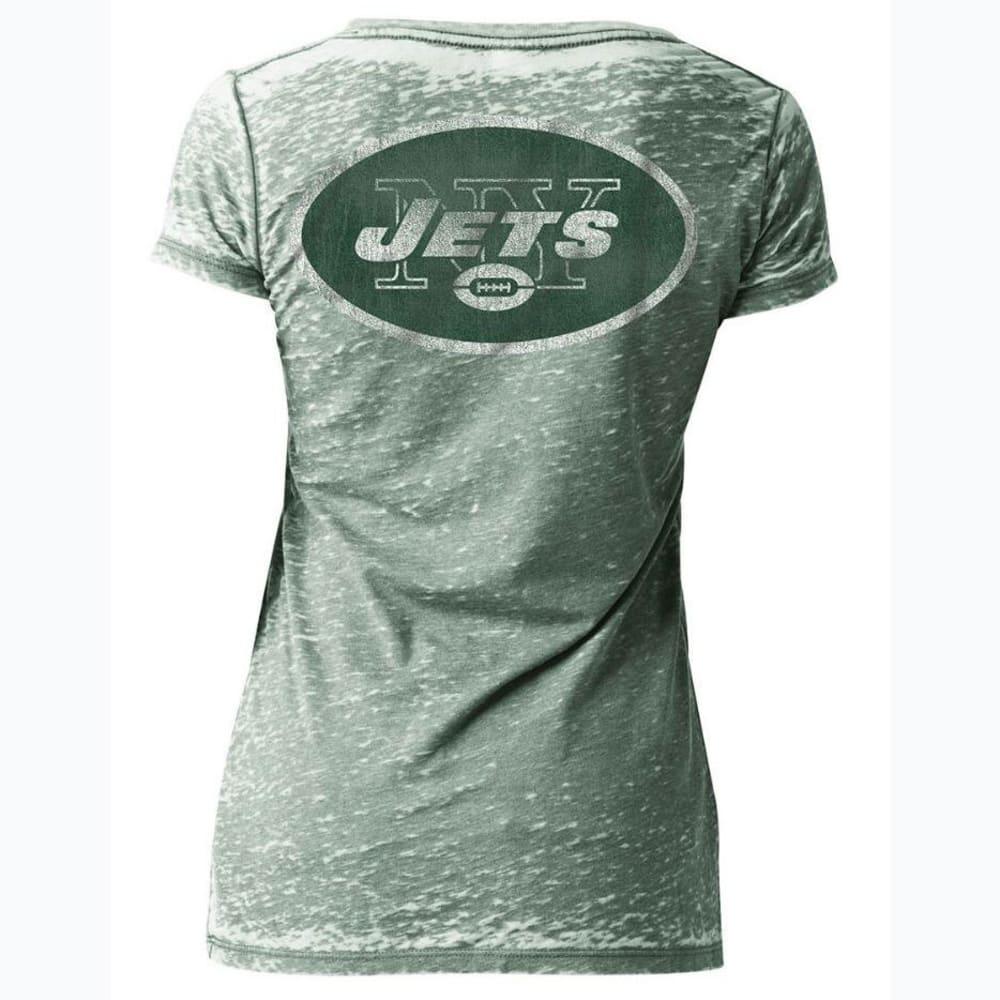 NEW YORK JETS Women's Burnout Short-Sleeve Tee - GREEN