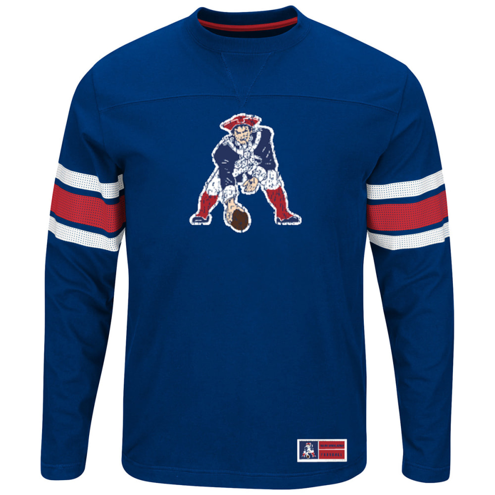 NEW ENGLAND PATRIOTS Men's Powerful Hit Long-Sleeve Tee - ROYAL BLUE