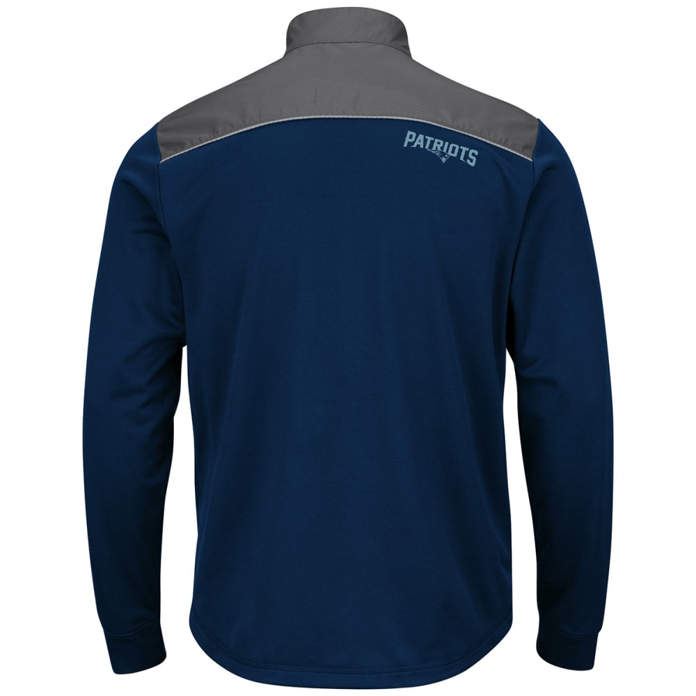 NEW ENGLAND PATRIOTS Men's Team Tech Full-Zip Jacket - NAVY