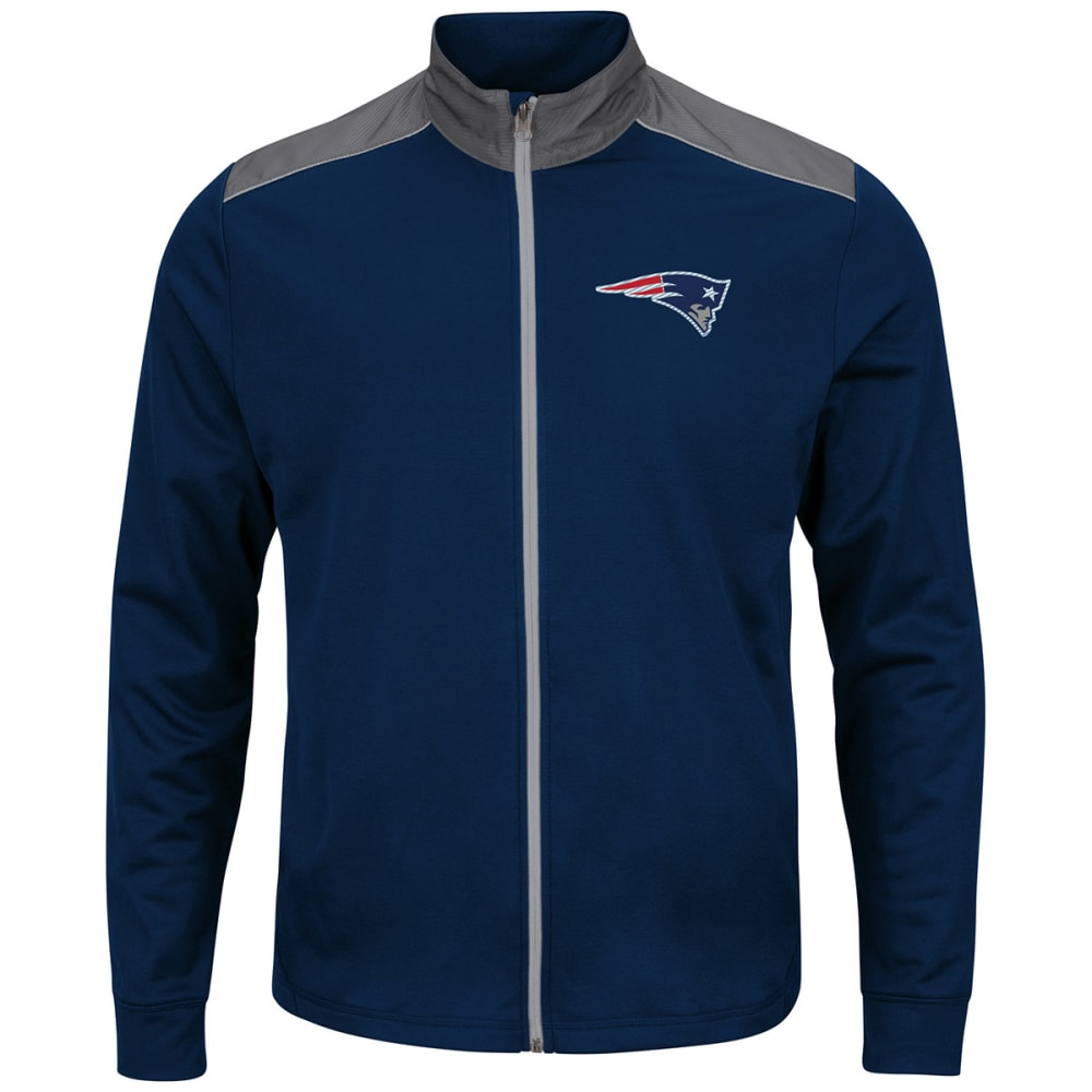NEW ENGLAND PATRIOTS Men's Team Tech Full-Zip Jacket - NAVY