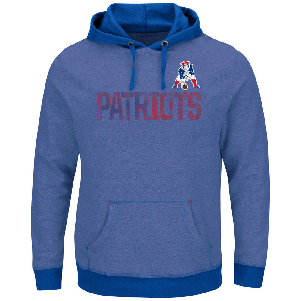 NEW ENGLAND PATRIOTS Men's Gameday Classic Pullover Hoodie - ROYAL BLUE