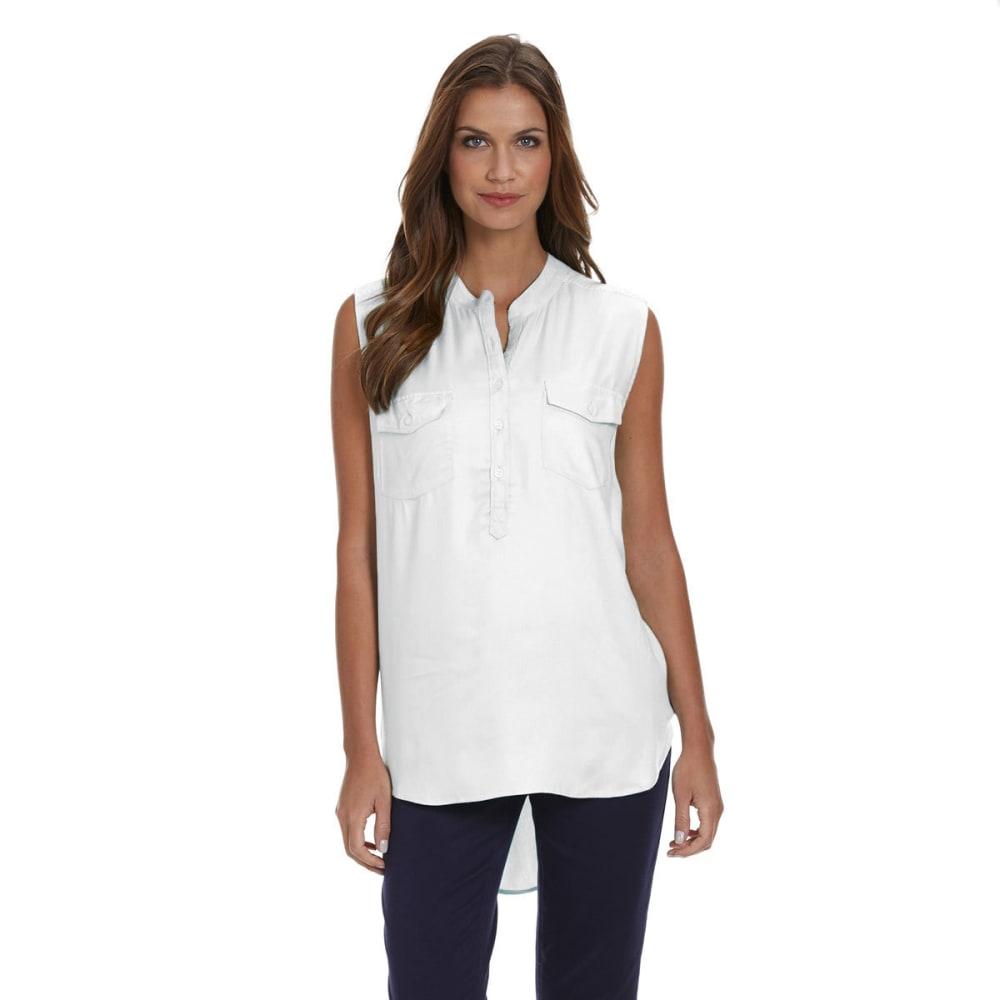 TIMELESS FASHIONS Women's Sleeveless Utility Shirt - WHITE
