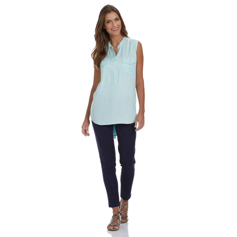 TIMELESS FASHIONS Women's Sleeveless Utility Shirt - MINT