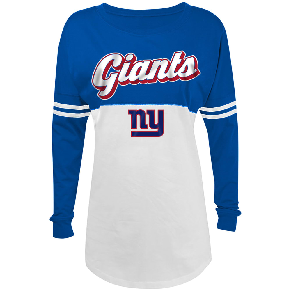 NEW YORK GIANTS Women's Long-Sleeve Spirit Top - ROYAL BLUE