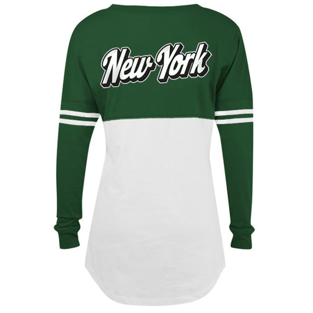 NEW YORK JETS Women's Space Dye Long Sleeve Tee - GREEN