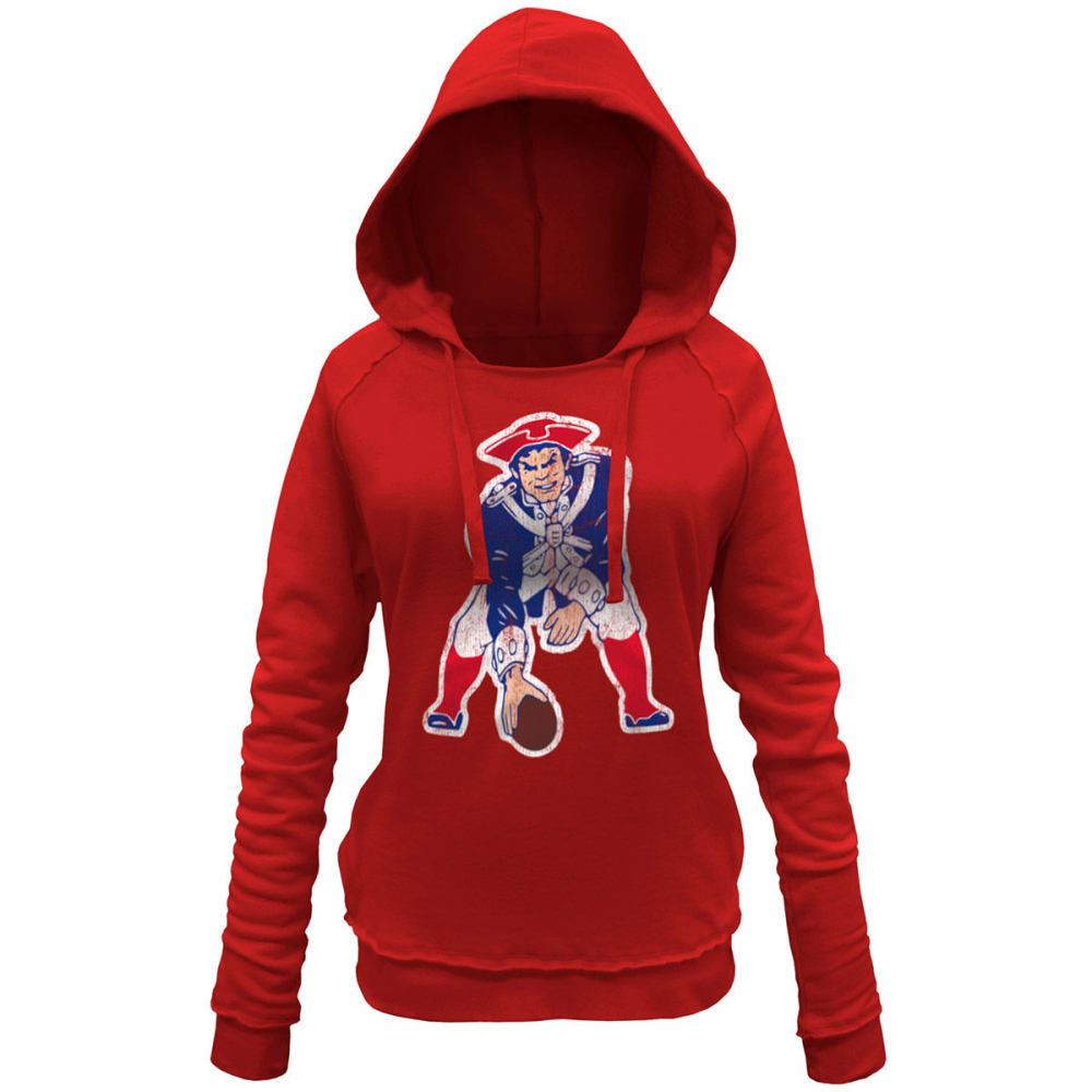 NEW ENGLAND PATRIOTS Women's Pullover Fleece - RED