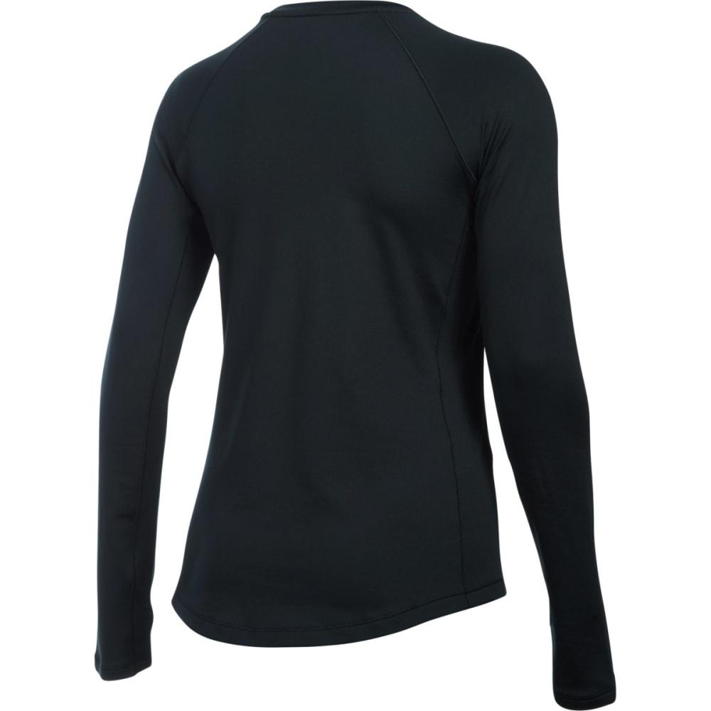 UNDER ARMOUR Women's ColdGear Long-Sleeve Crewneck Top - BLACK 001