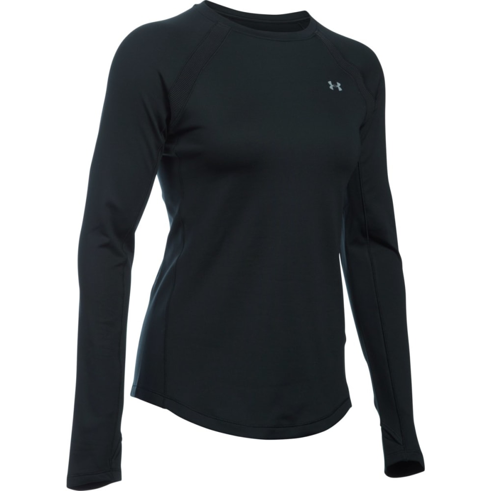 UNDER ARMOUR Women's ColdGear Long-Sleeve Crewneck Top - BLACK 001