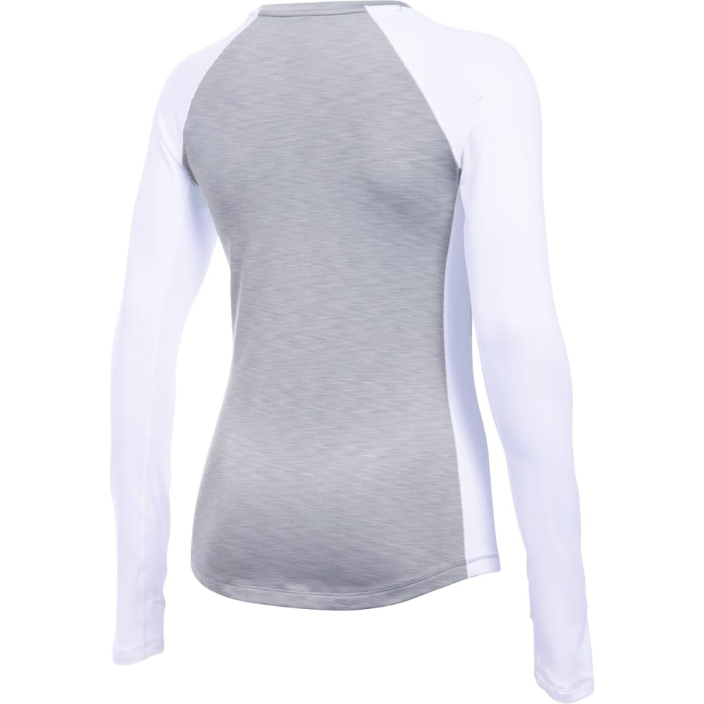 UNDER ARMOUR Women's ColdGear Long-Sleeve Crewneck Top - TGH/IVORY 025