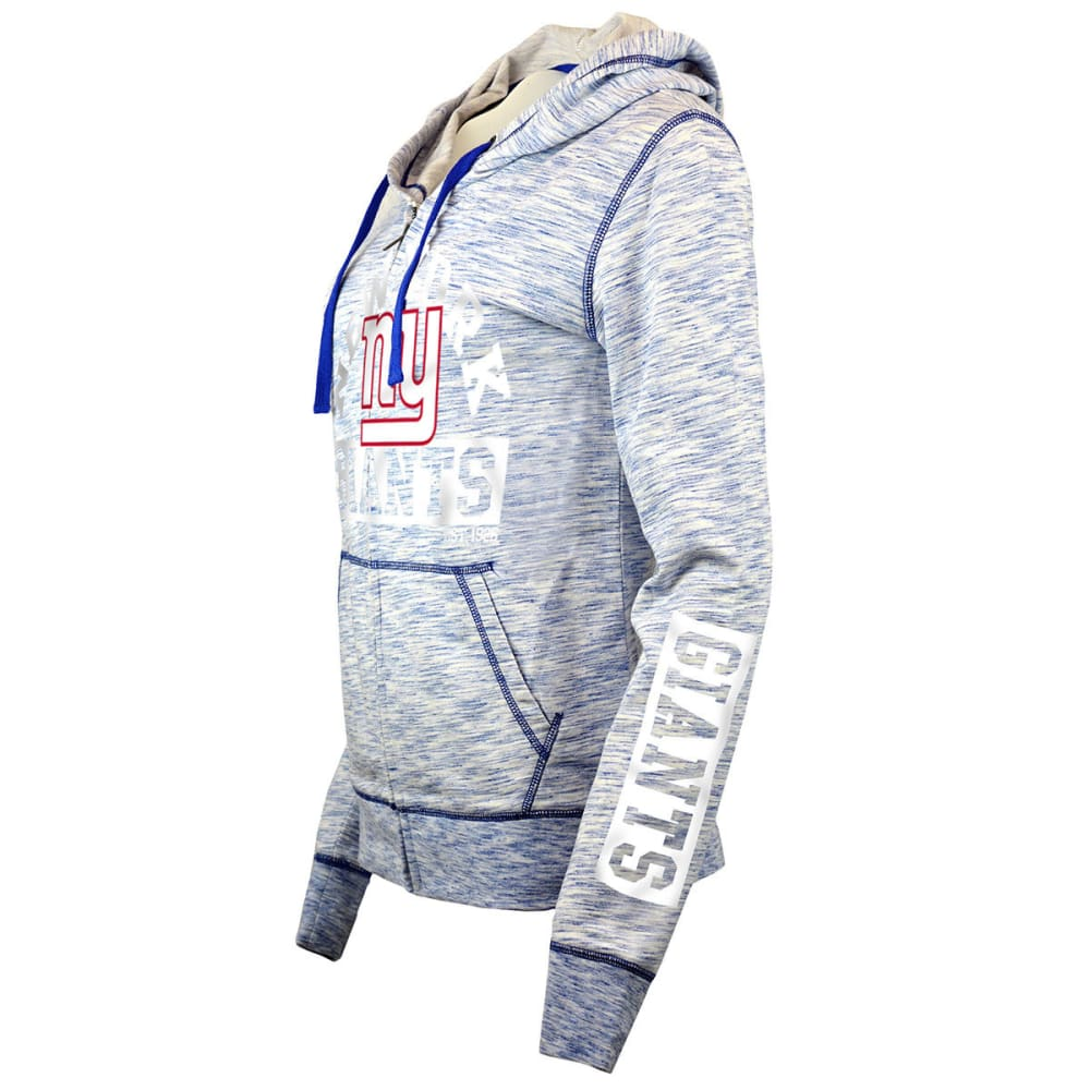 NEW YORK GIANTS Women's Space-Dye Full-Zip Fleece Hoodie - ROYAL BLUE