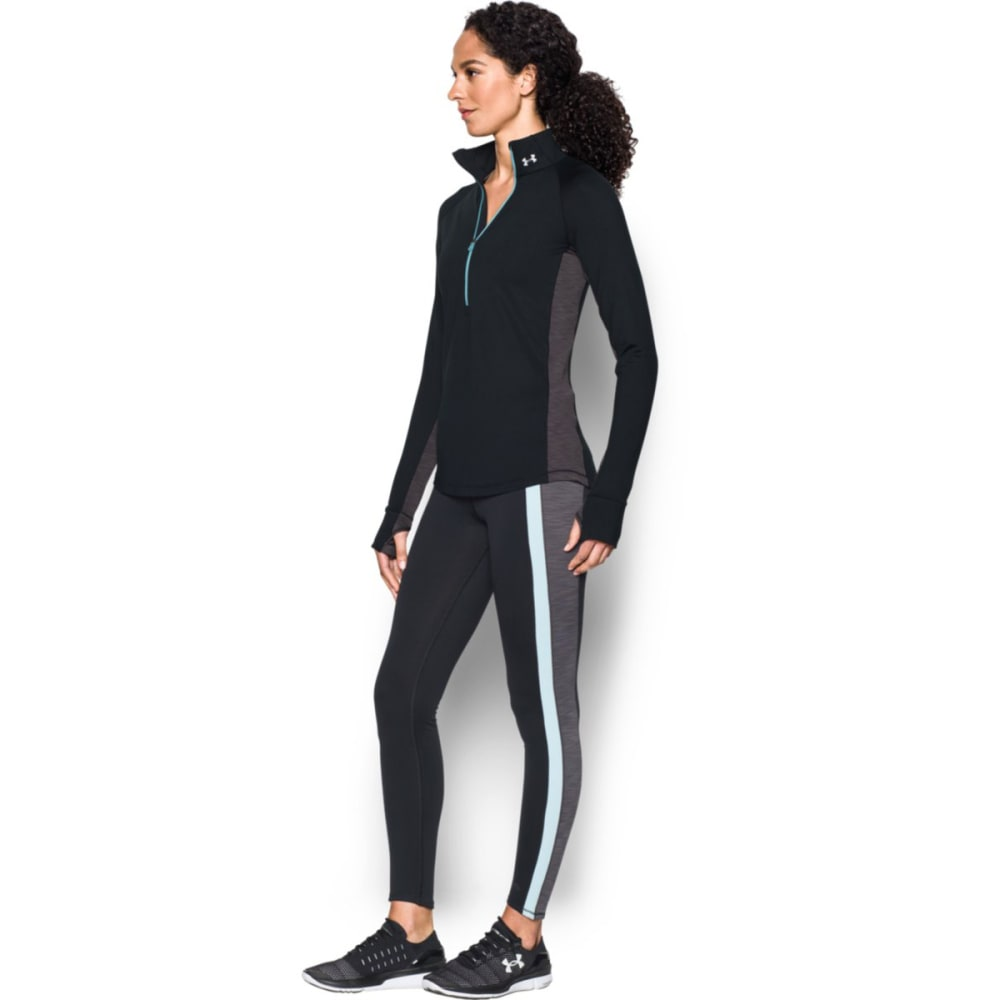 UNDER ARMOUR Women's Cold Gear Armour ½ Zip-Top - BLACK/CARBON 005