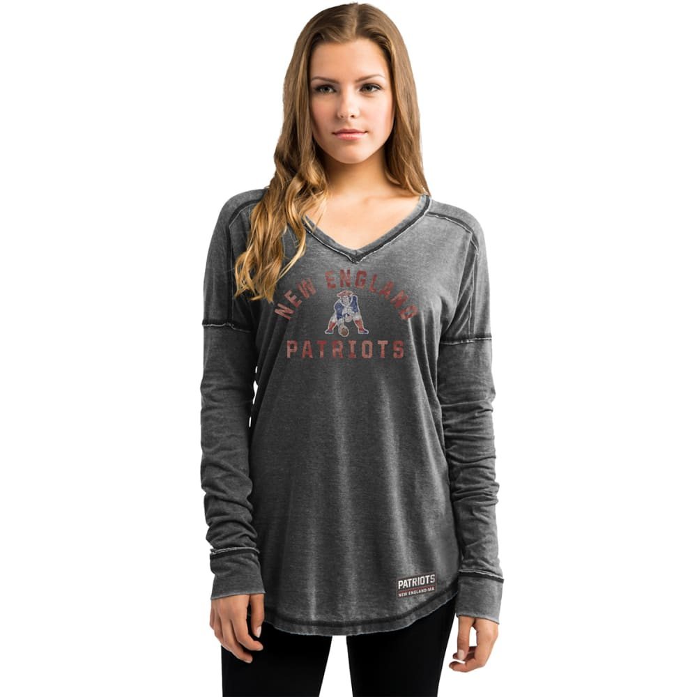 NEW ENGLAND PATRIOTS Women's Victory Play Long Sleeve Tee - CHARCOAL