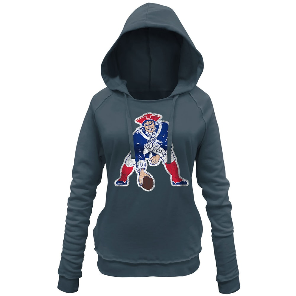 NEW ENGLAND PATRIOTS Women's Pullover Fleece - CHARCOAL
