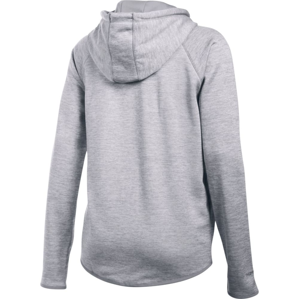 UNDER ARMOUR Women's Storm Armour Fleece Twist Lightweight Hoodie - STEEL 035