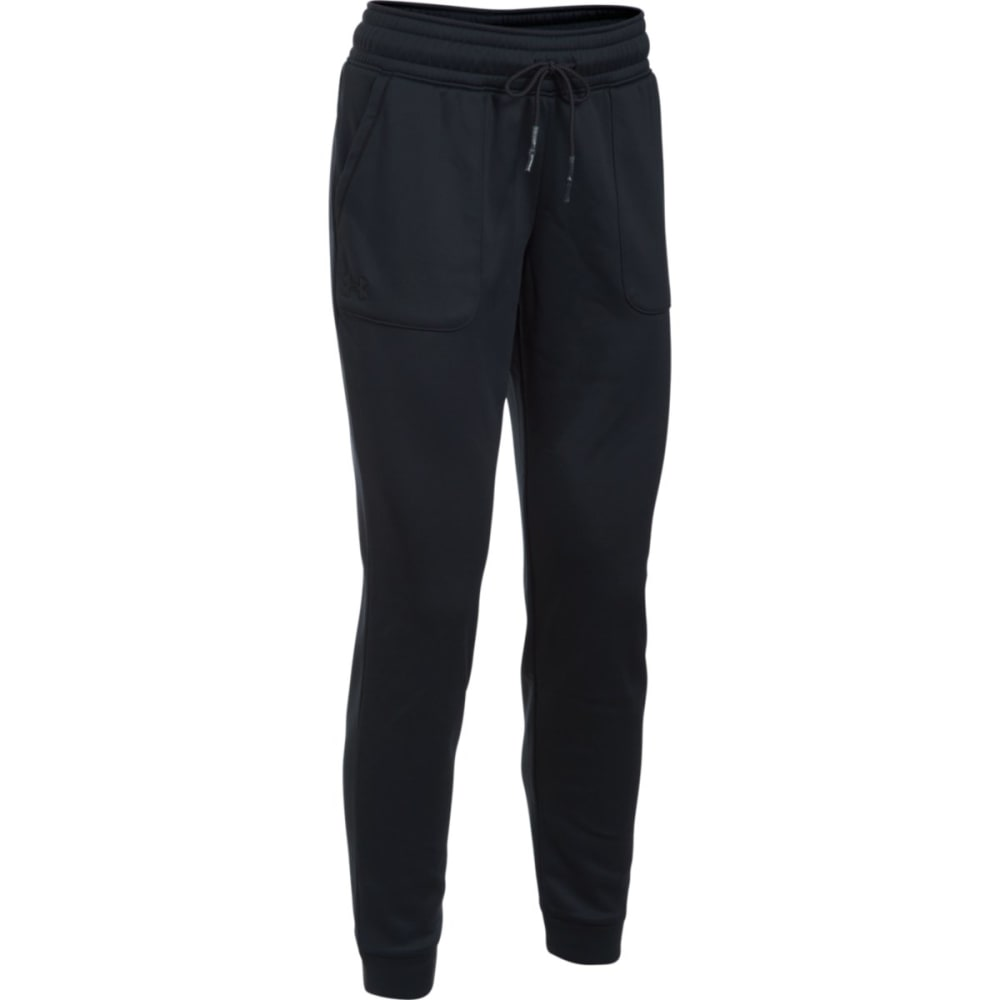 UNDER ARMOUR Women's Storm Armour Lightweight Fleece Jogger Pants - BLACK 001