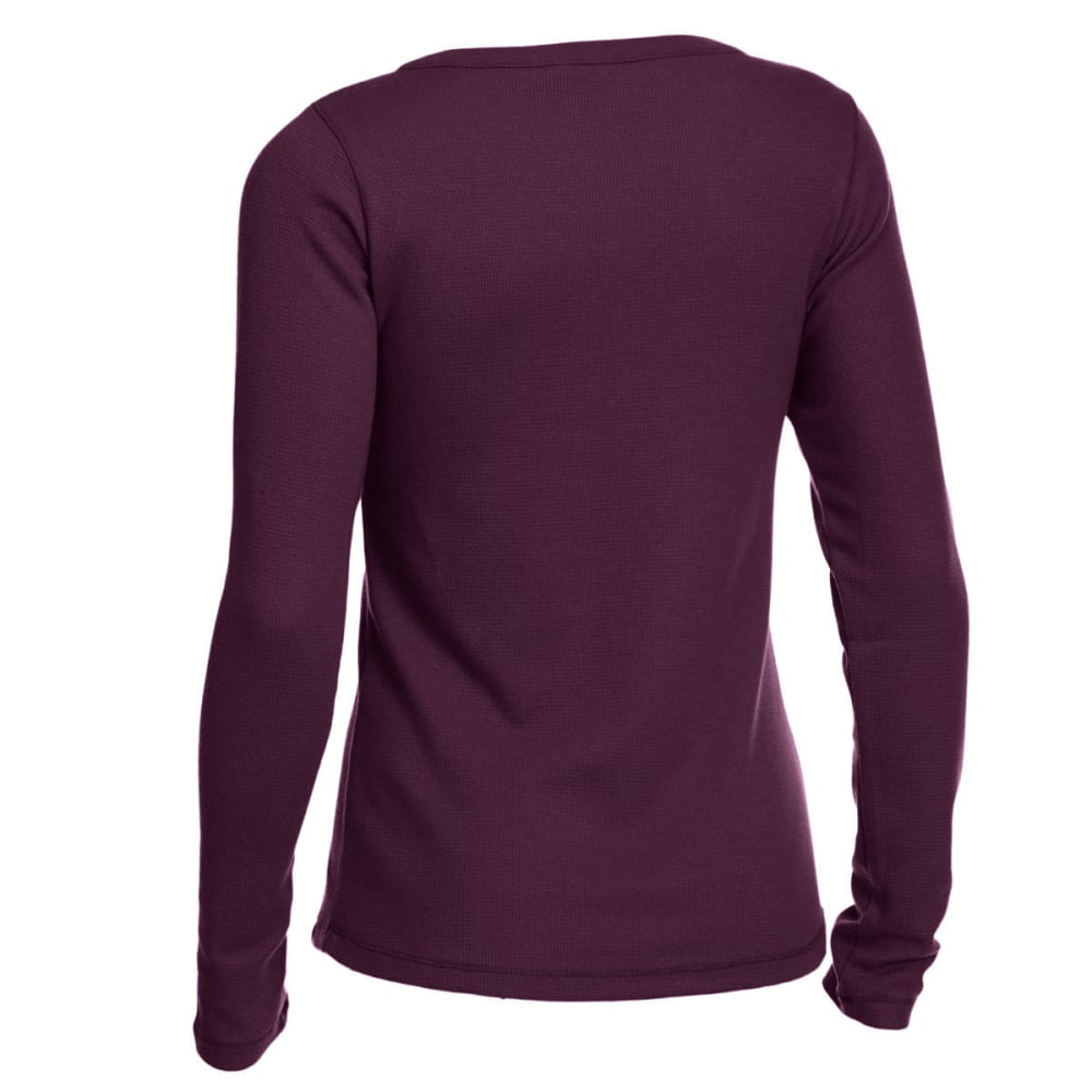 EMS Women's Lakeside Waffle Henley Long-Sleeve Tee - PICKLED BEET