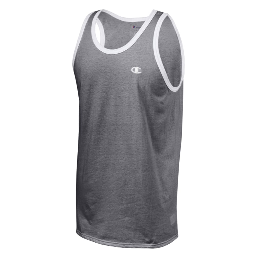 CHAMPION Men's Ringer Tank Top - GRANITE HTHR-G61