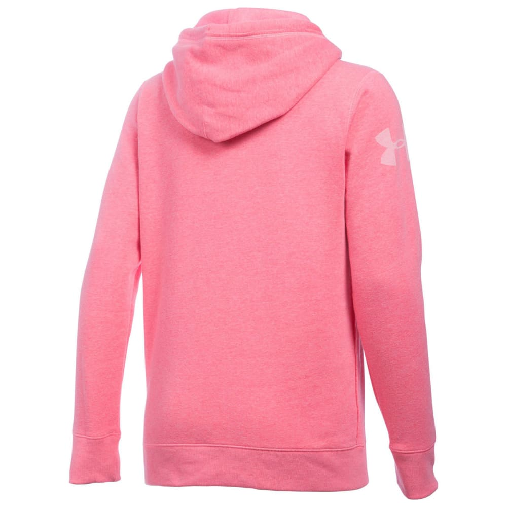UNDER ARMOUR Women's Favorite Fleece Word Mark Popover - KNOCK OUT 656