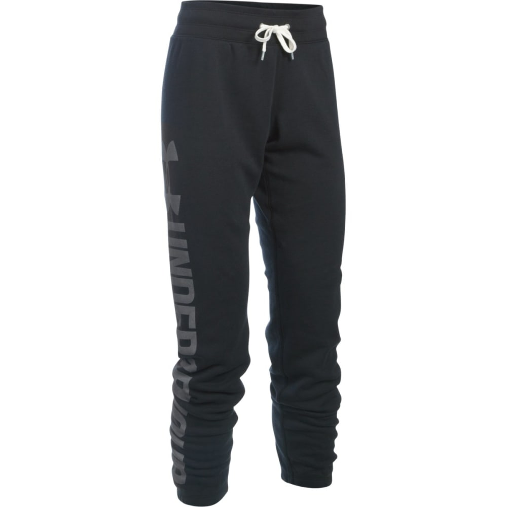 UNDER ARMOUR Women's Favorite Fleece Pants - BLACK/WHT 001