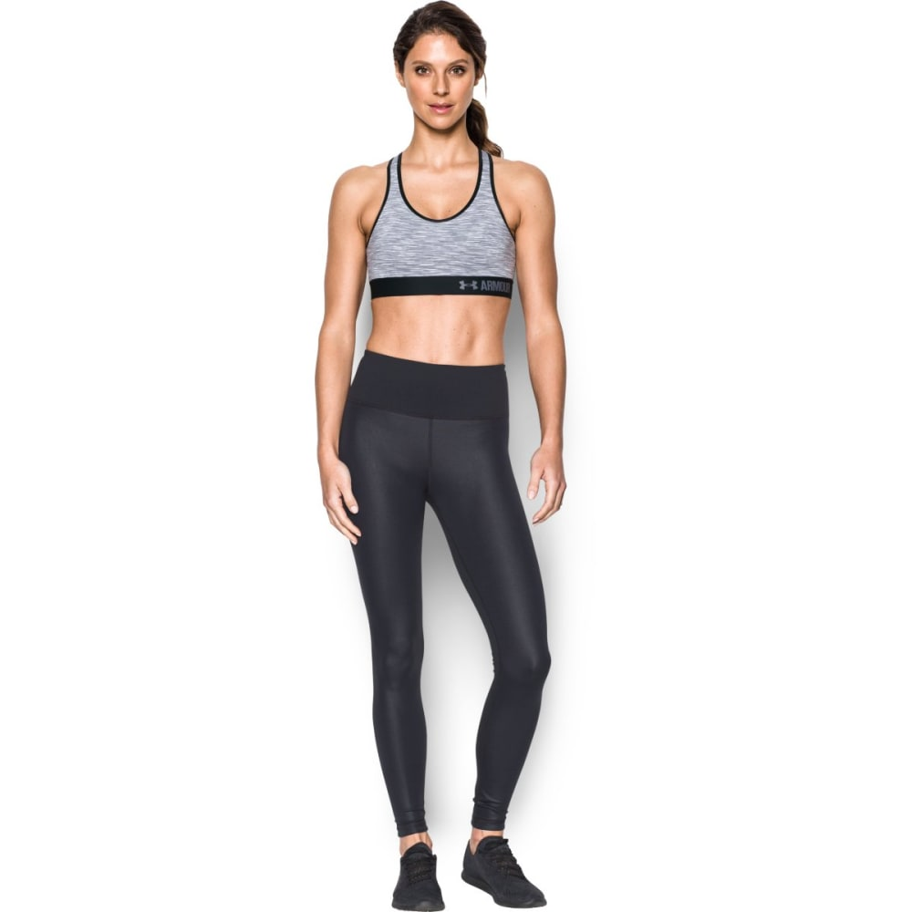 UNDER ARMOUR Women's Mid Support Space-Dye Sports Bra - BLACK/BLACK 001