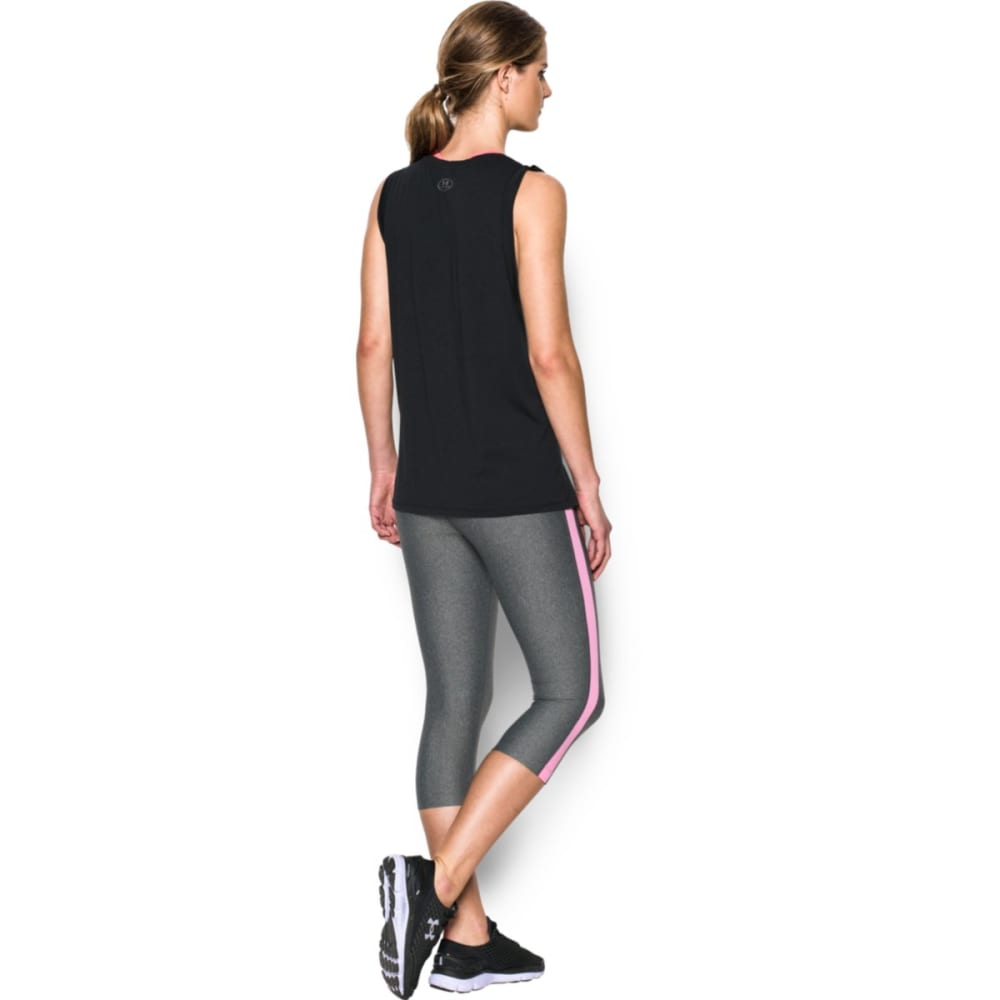 UNDER ARMOUR Women's Athlete Muscle Tank - BLACK 001