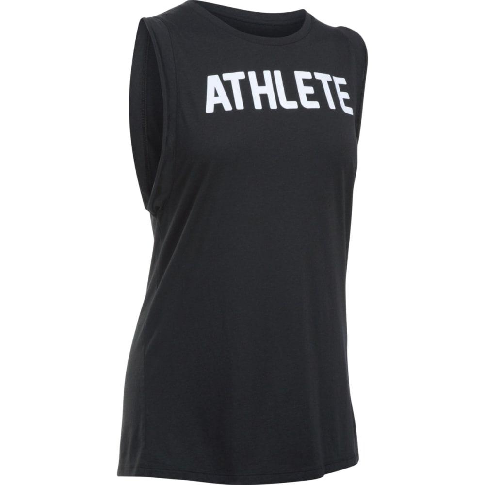 UNDER ARMOUR Women's Athlete Muscle Tank - BLACK 001