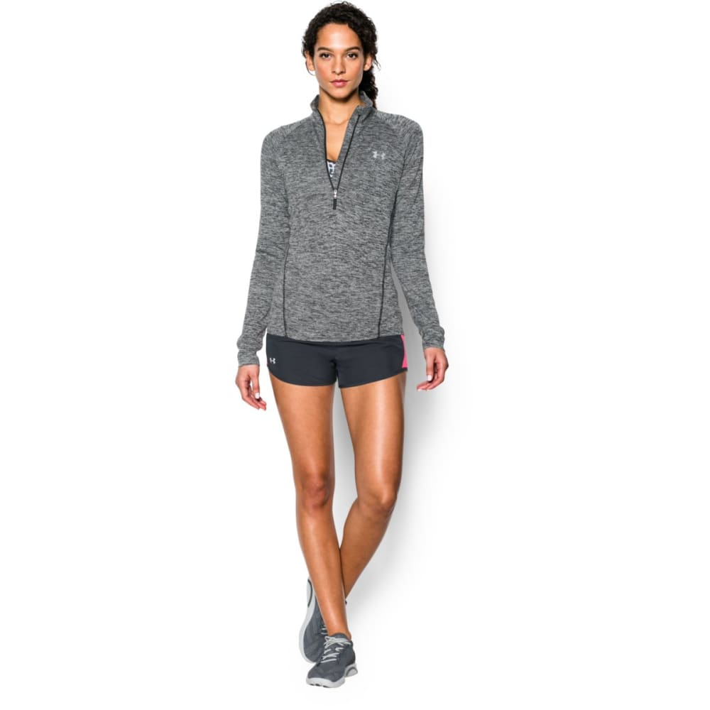 UNDER ARMOUR Women's Tech™ ½ Zip – Twist Pullover - BLACK 001