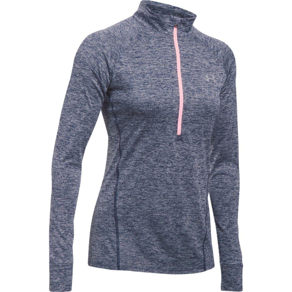 UNDER ARMOUR Women's Tech  ½ Zip  Twist Pullover - MIDNIGHT NAVY-410