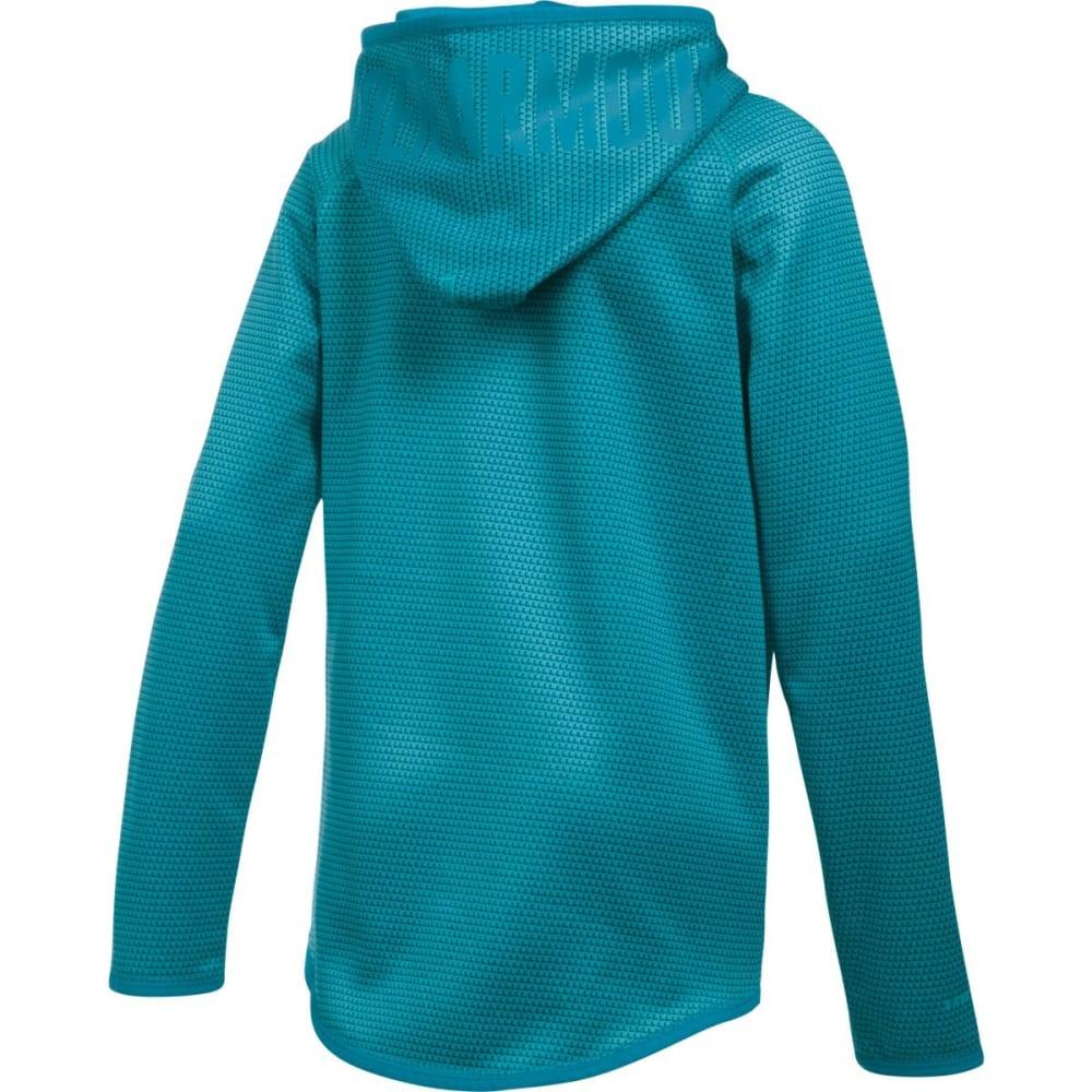 UNDER ARMOUR Girls' Fleece Novelty Big Logo Hoodie - PACIFIC/TEAL-480
