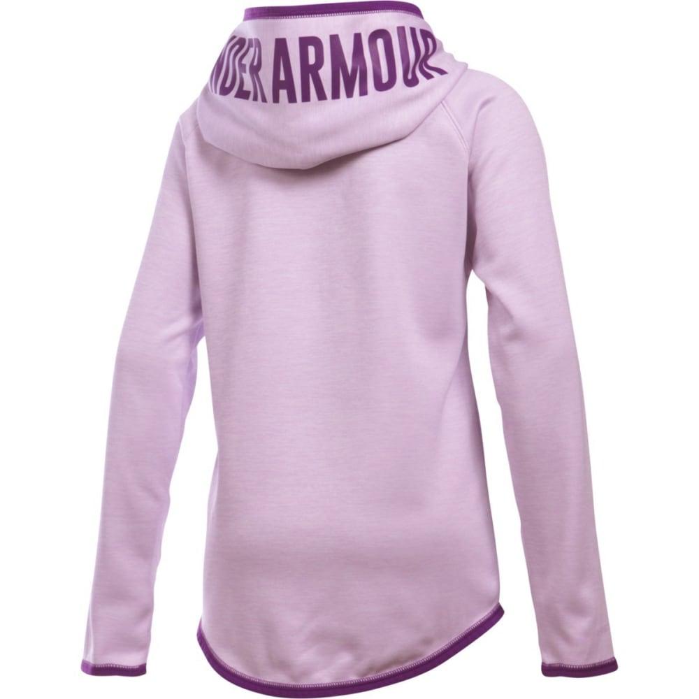 UNDER ARMOUR Girls' Fleece Novelty Big Logo Hoodie - SMOKY GRAPE-769
