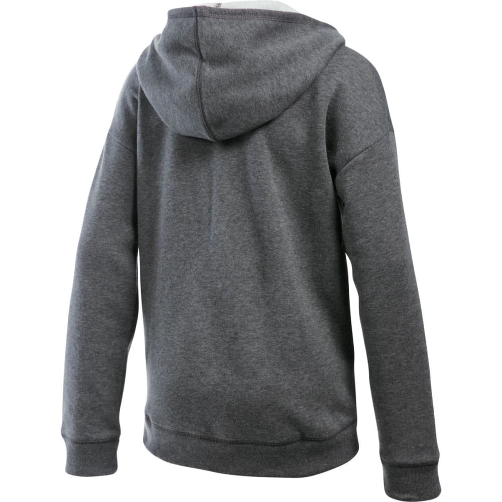 UNDER ARMOUR Girls' Favorite Fleece Hoodie - CRBN HTHR/BLK-090