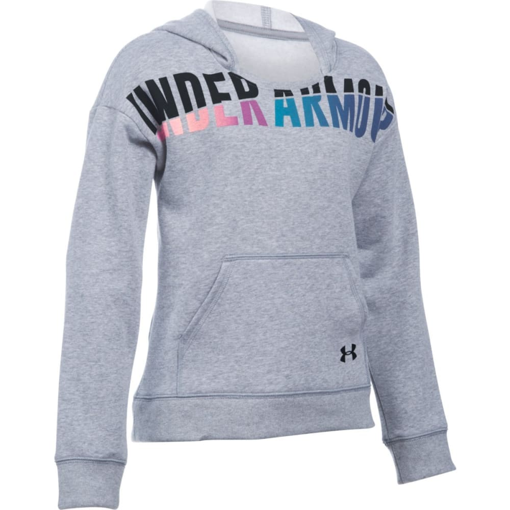 UNDER ARMOUR Girls' Favorite Fleece Hoodie - TGH/BLK-025