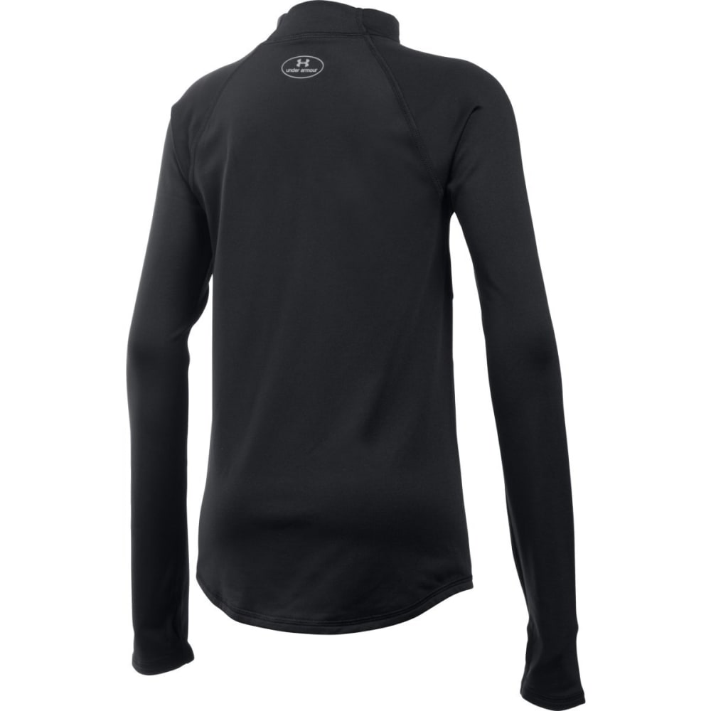 UNDER ARMOUR Girls' ColdGear Armour Mock Neck Top - BLACK-001
